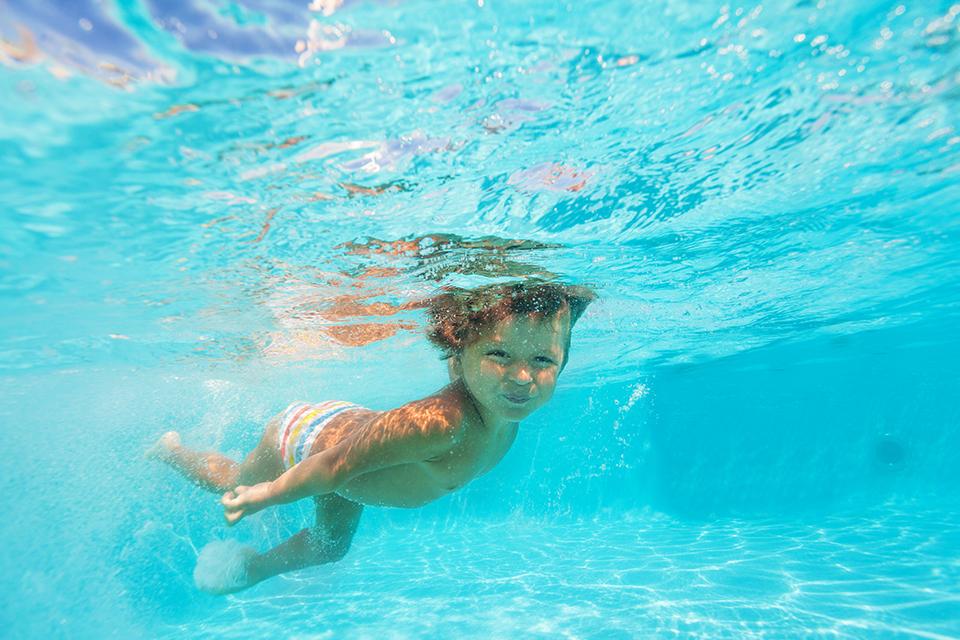 Hoofd onder water