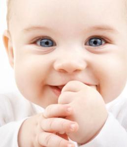 Lachende Baby Blauwe Ogen
