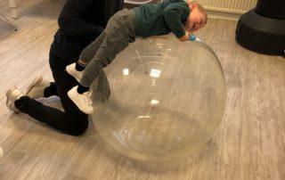 Haptotherapeut Jesper in actie